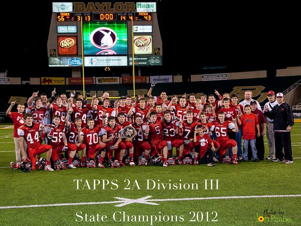 St. Paul Cardinals - 2012 TAPPS Div III State Football Champions